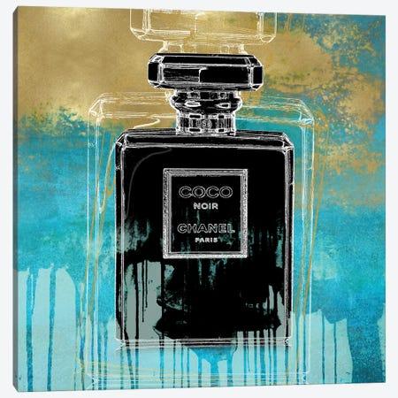 Noir On Teal Canvas Print #MDL27} by Madeline Blake Canvas Artwork