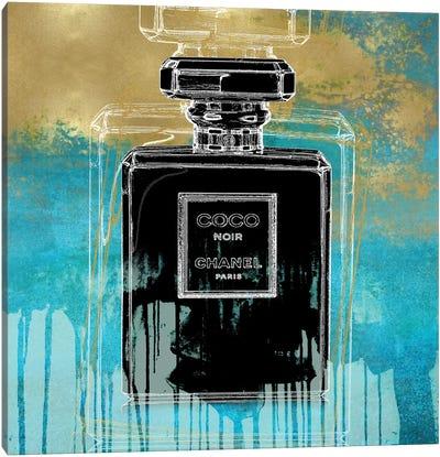 Noir On Teal Canvas Art Print