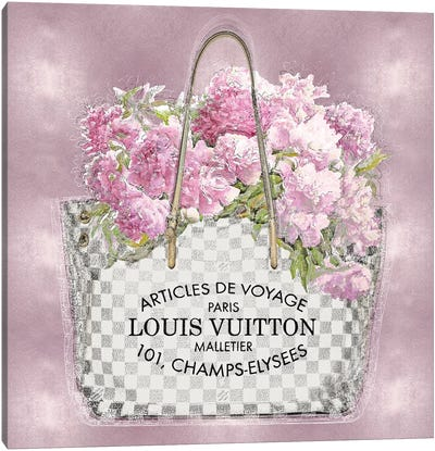 Pink Bouquet On Pink Canvas Art Print