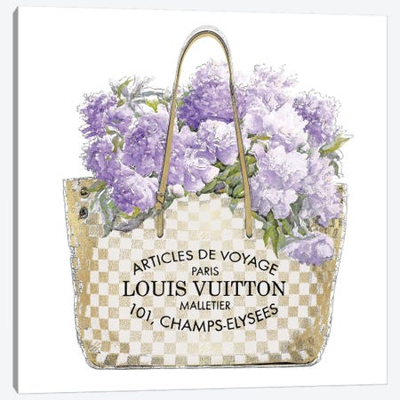 Lavender Bouquet Canvas Print #MDL43} by Madeline Blake Canvas Print