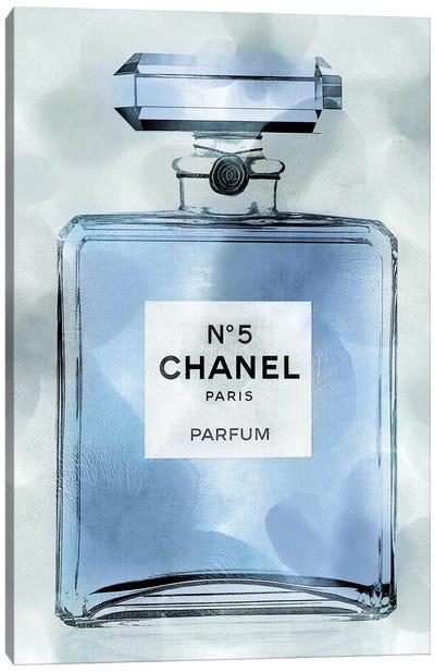 Blue Perfume Bottle Canvas Art Print