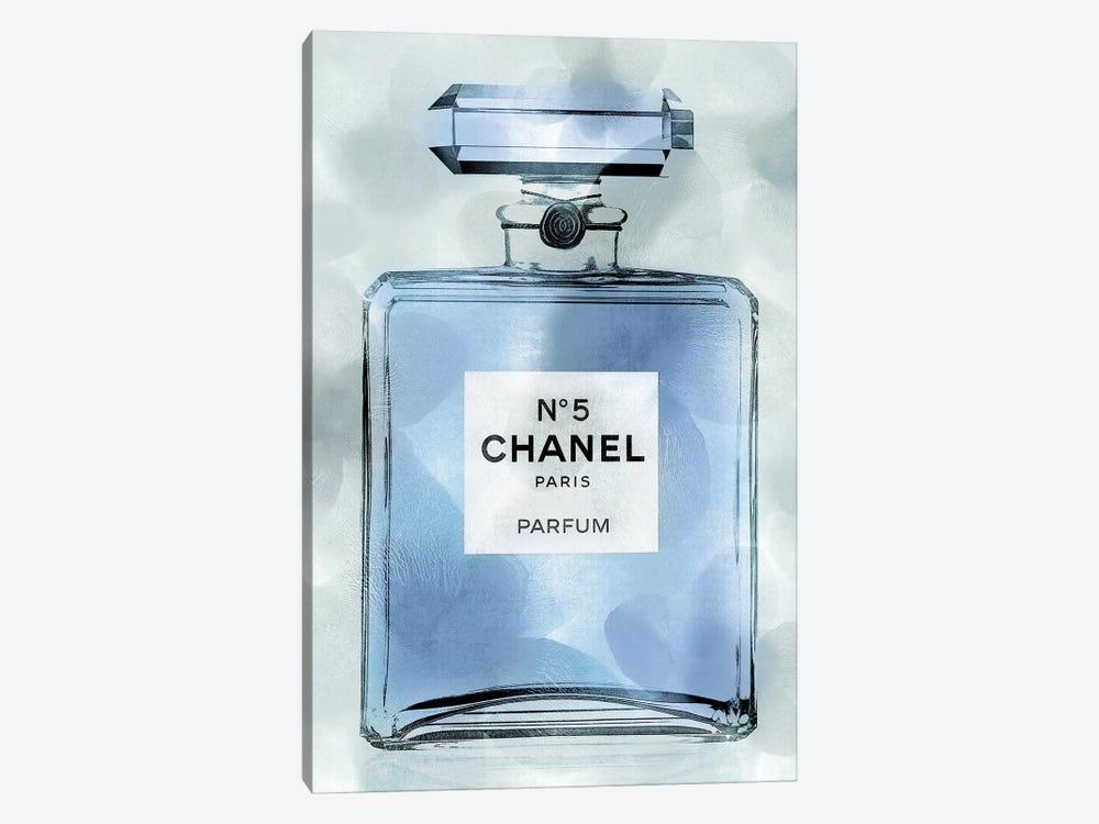 Blue Perfume Bottle by Madeline Blake 1-piece Canvas Art