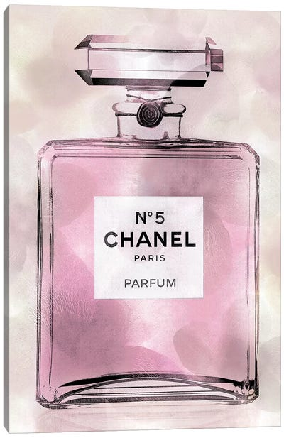 Pink Perfume Bottle Canvas Art Print