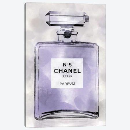 Purple Perfume Bottle Canvas Print #MDL47} by Madeline Blake Canvas Artwork