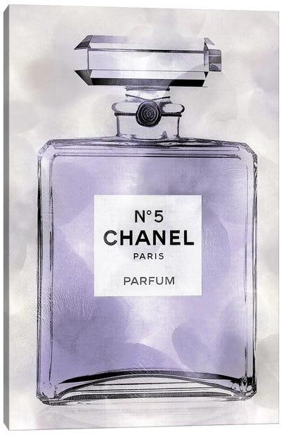 Purple Perfume Bottle Canvas Art Print