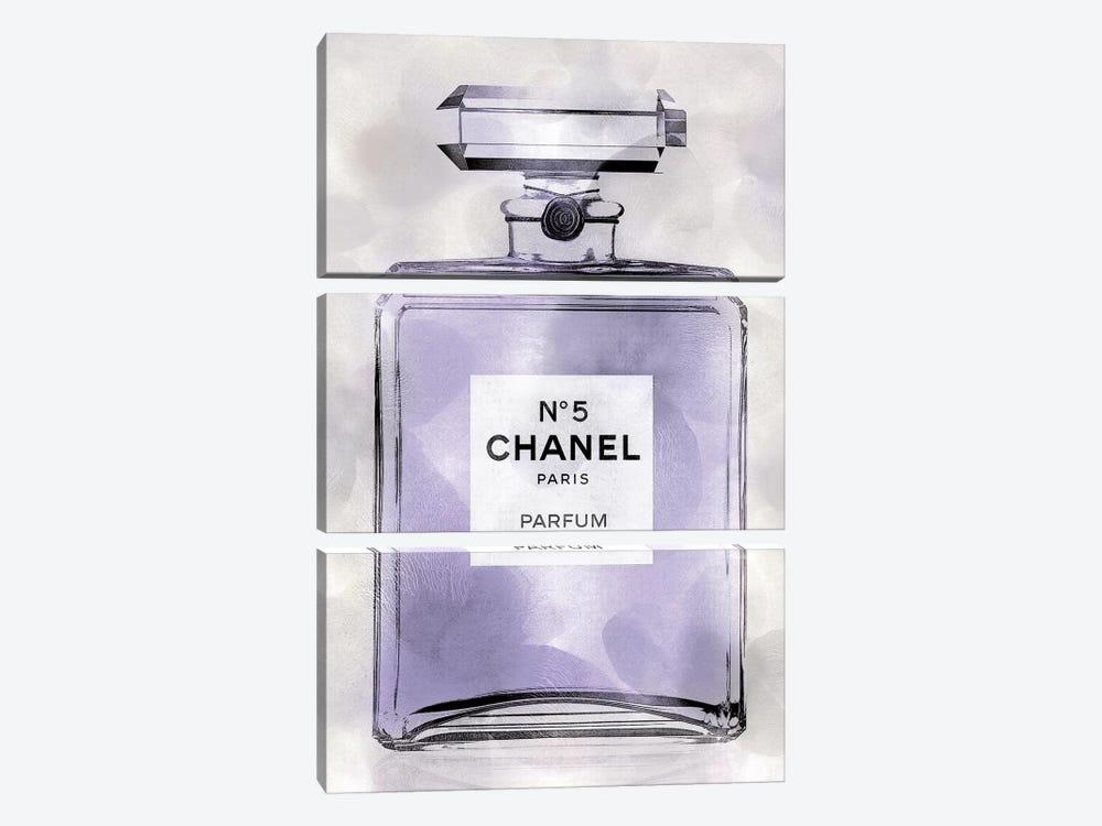 Purple Perfume Bottle by Madeline Blake 3-piece Canvas Artwork