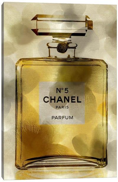 Golden Perfume Bottle Canvas Art Print