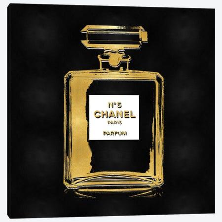 Gold Perfume on Black Canvas Print #MDL52} by Madeline Blake Canvas Artwork