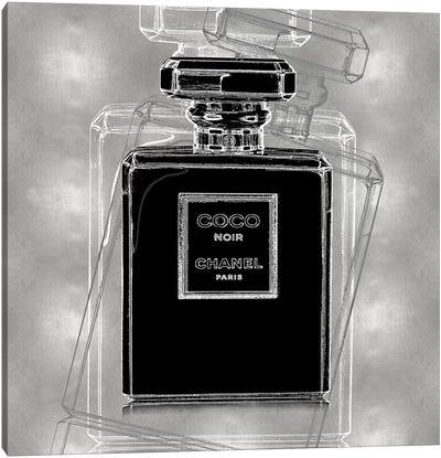Noir on Silver Canvas Art Print