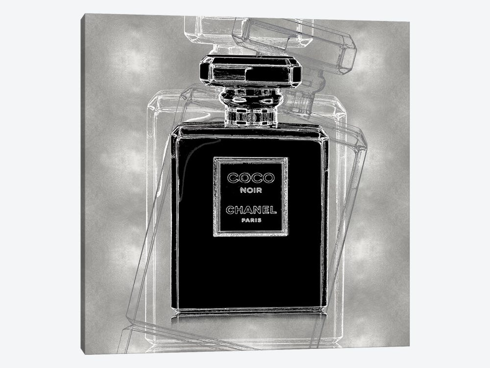 Noir on Silver by Madeline Blake 1-piece Canvas Art
