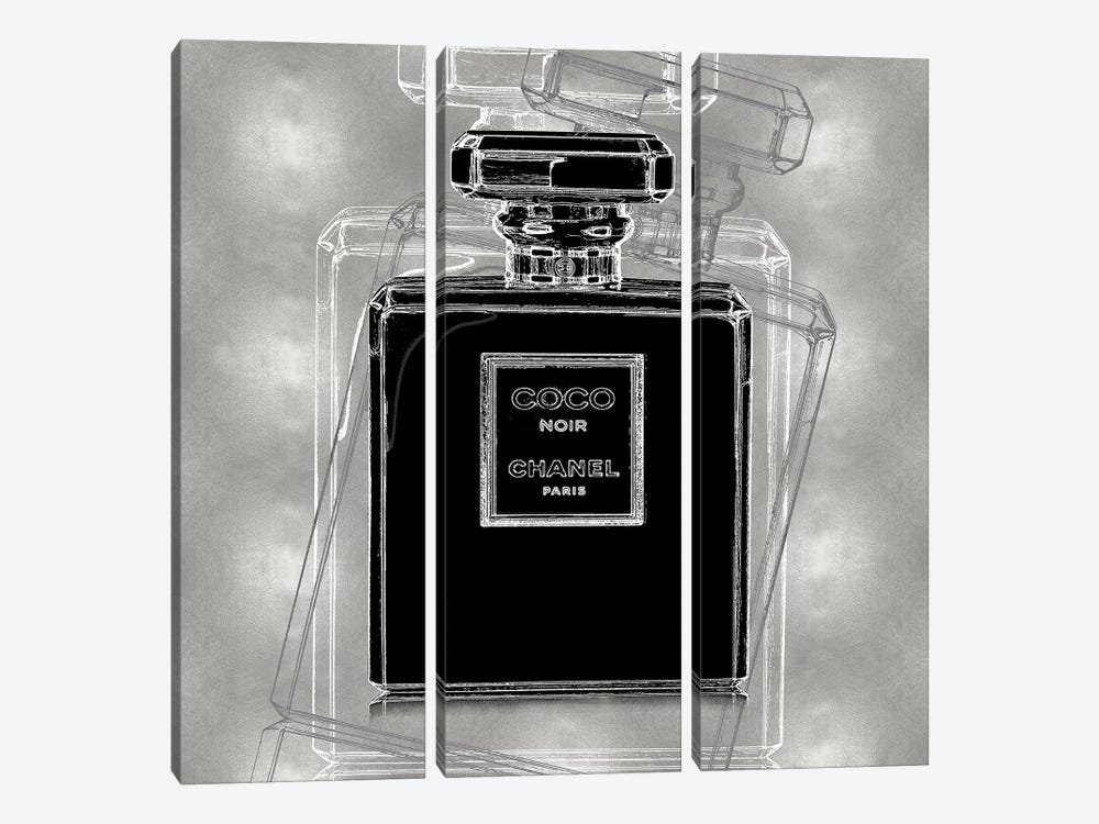 Noir on Silver by Madeline Blake 3-piece Canvas Wall Art