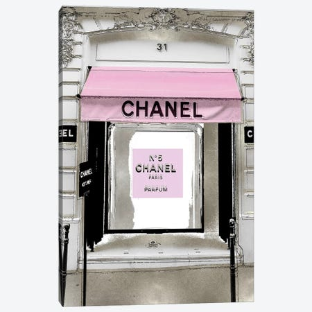 Designer Entrance with Pink Canvas Print #MDL73} by Madeline Blake Canvas Art