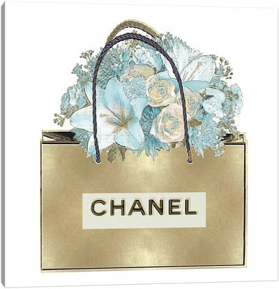 Gold Bag With Bouquet Canvas Art Print