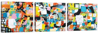 Power Through Triptych Canvas Art Print