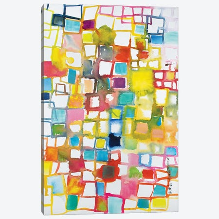 Color Block Canvas Print #MDM9} by Michelle Daisley Moffitt Canvas Art Print