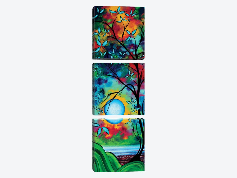 Under The Light Of The Blue Moon I by Megan Duncanson 3-piece Canvas Wall Art