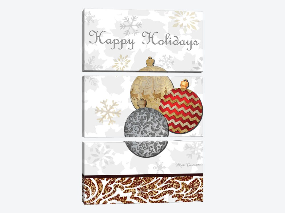 Fancy Happy Holidays by Megan Duncanson 3-piece Art Print