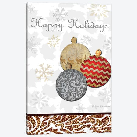 Fancy Happy Holidays Canvas Print #MDN14} by Megan Duncanson Canvas Art Print