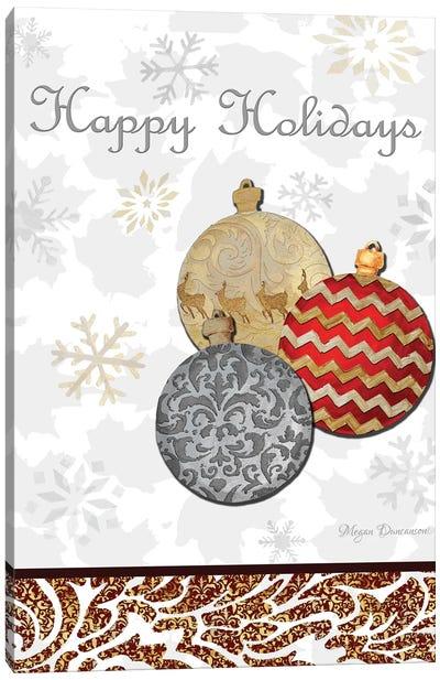 Fancy Happy Holidays Canvas Art Print