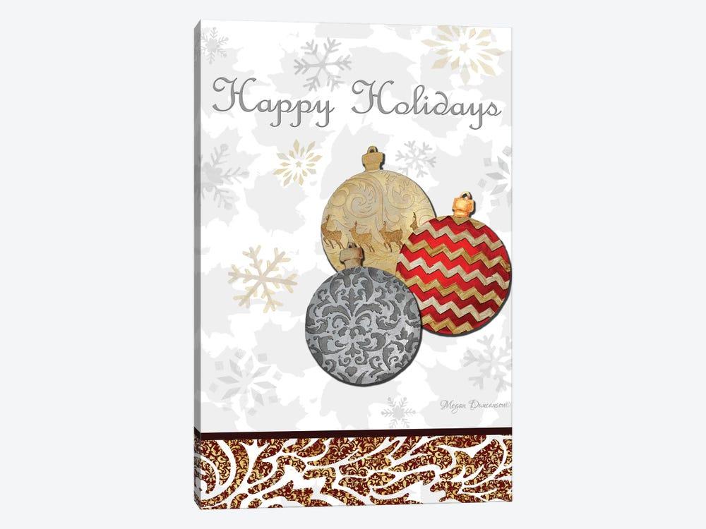 Fancy Happy Holidays by Megan Duncanson 1-piece Canvas Print