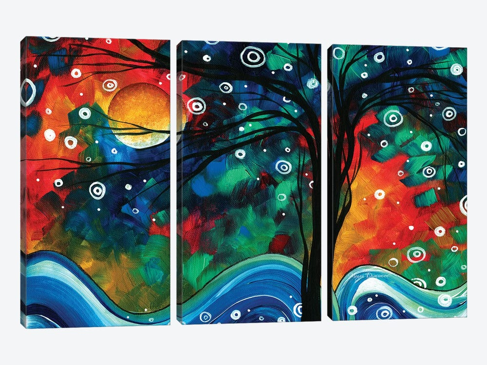 First Snow Fall by Megan Duncanson 3-piece Canvas Artwork