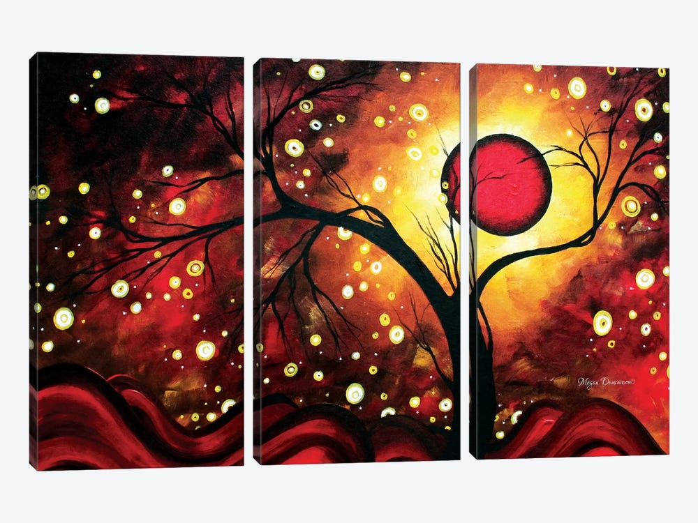 Glowing Orb by Megan Duncanson 3-piece Canvas Wall Art