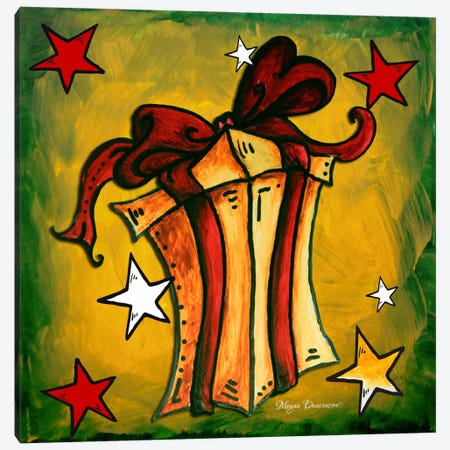Golden Present Canvas Print #MDN18} by Megan Duncanson Canvas Wall Art