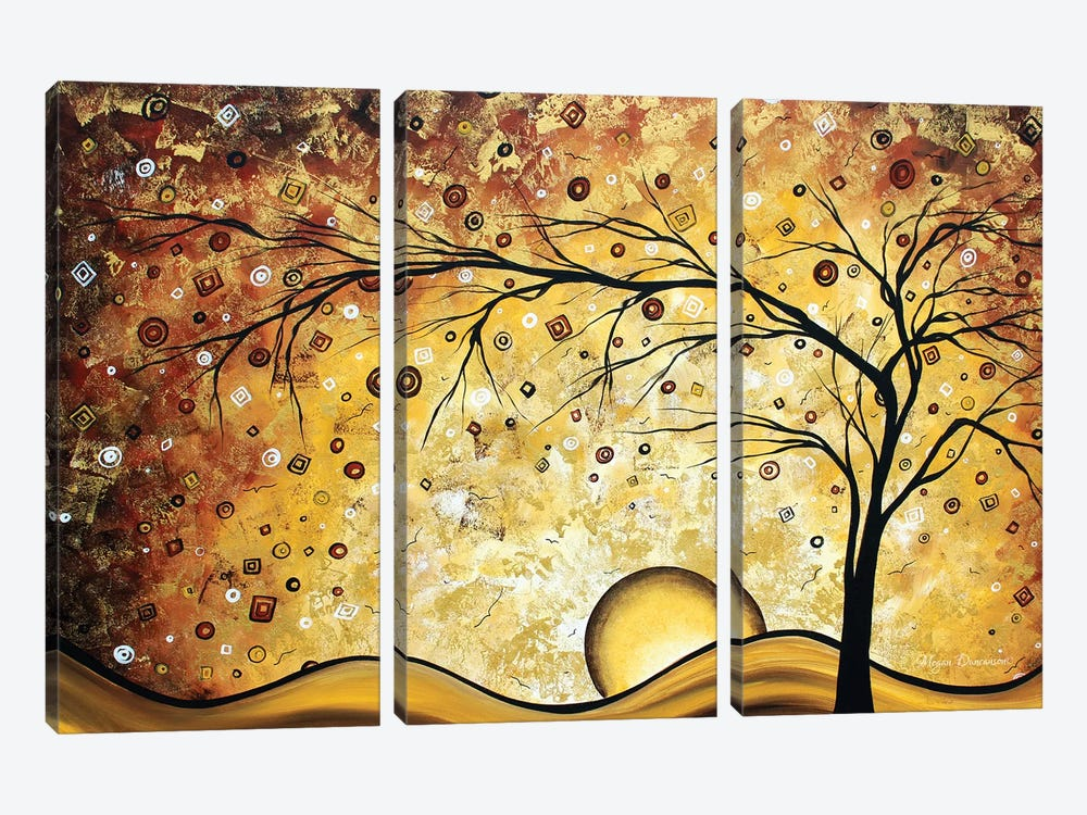 Golden Rhapsody by Megan Duncanson 3-piece Canvas Art