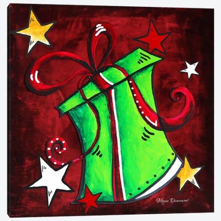 Green Present Canvas Print #MDN20} by Megan Duncanson Canvas Print
