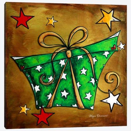 Green Stars Present Canvas Print #MDN21} by Megan Duncanson Canvas Art Print