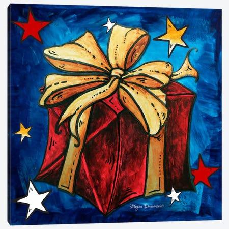 Red Present Canvas Print #MDN28} by Megan Duncanson Canvas Print