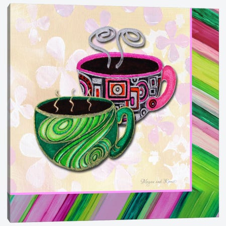 Tea Party II Canvas Print #MDN39} by Megan Duncanson Canvas Art
