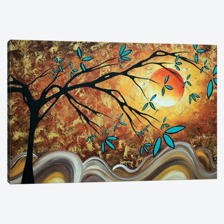 Apricot Moon Canvas Print #MDN43} by Megan Duncanson Canvas Art Print