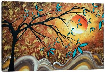 Apricot Moon Canvas Art Print
