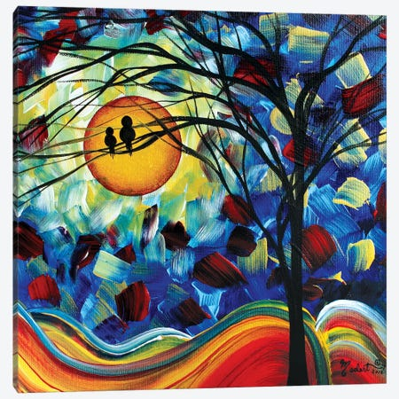Baby Bird Canvas Print #MDN45} by Megan Duncanson Canvas Artwork