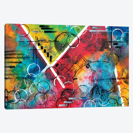 Beauty Amongst The Chaos Canvas Print #MDN46} by Megan Duncanson Canvas Art