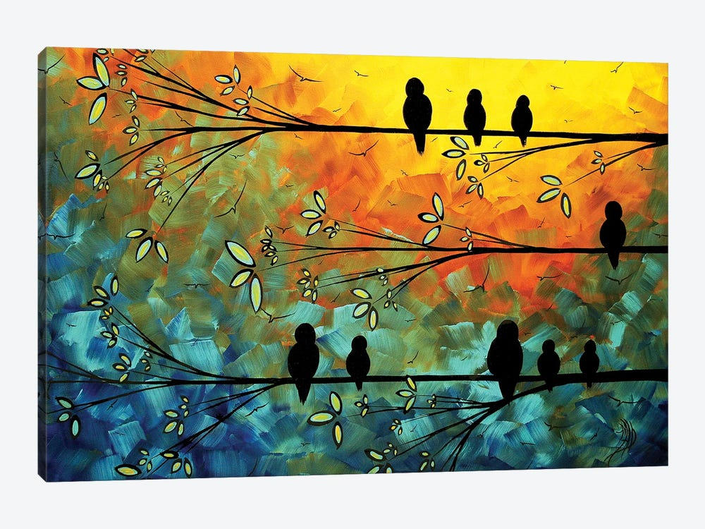 Birds Of A Feather by Megan Duncanson 1-piece Canvas Print