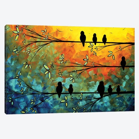 Birds Of A Feather Canvas Print #MDN50} by Megan Duncanson Canvas Artwork