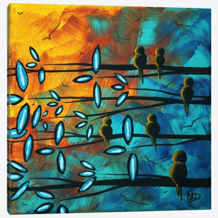Birds Of Summer Canvas Print #MDN51} by Megan Duncanson Canvas Wall Art