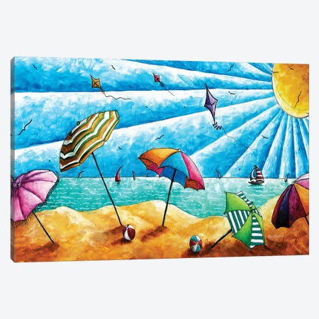 Beach Life I 3-Piece Canvas #MDN5} by Megan Duncanson Art Print