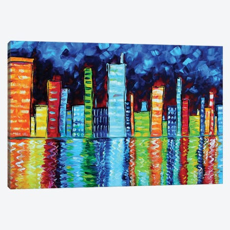 City Nights II Canvas Print #MDN61} by Megan Duncanson Canvas Art Print