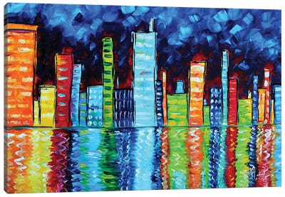 City Nights II Canvas Art Print