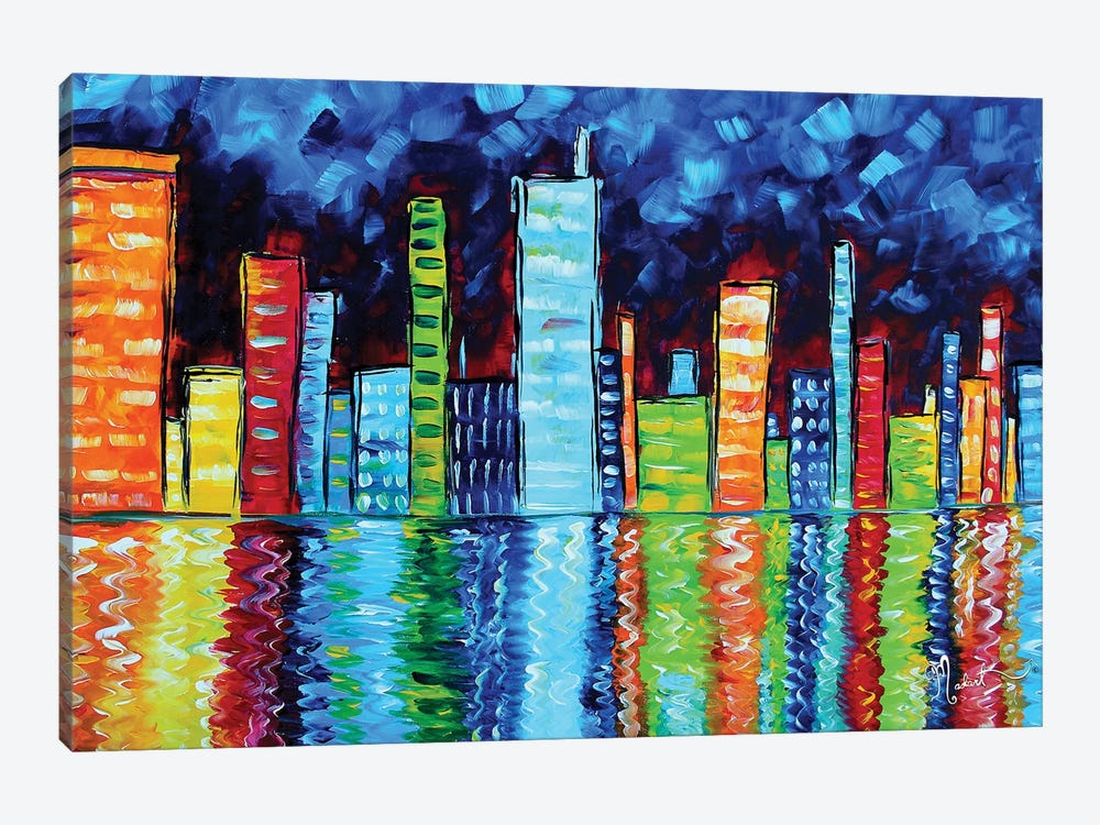 City Nights II 1-piece Canvas Art Print