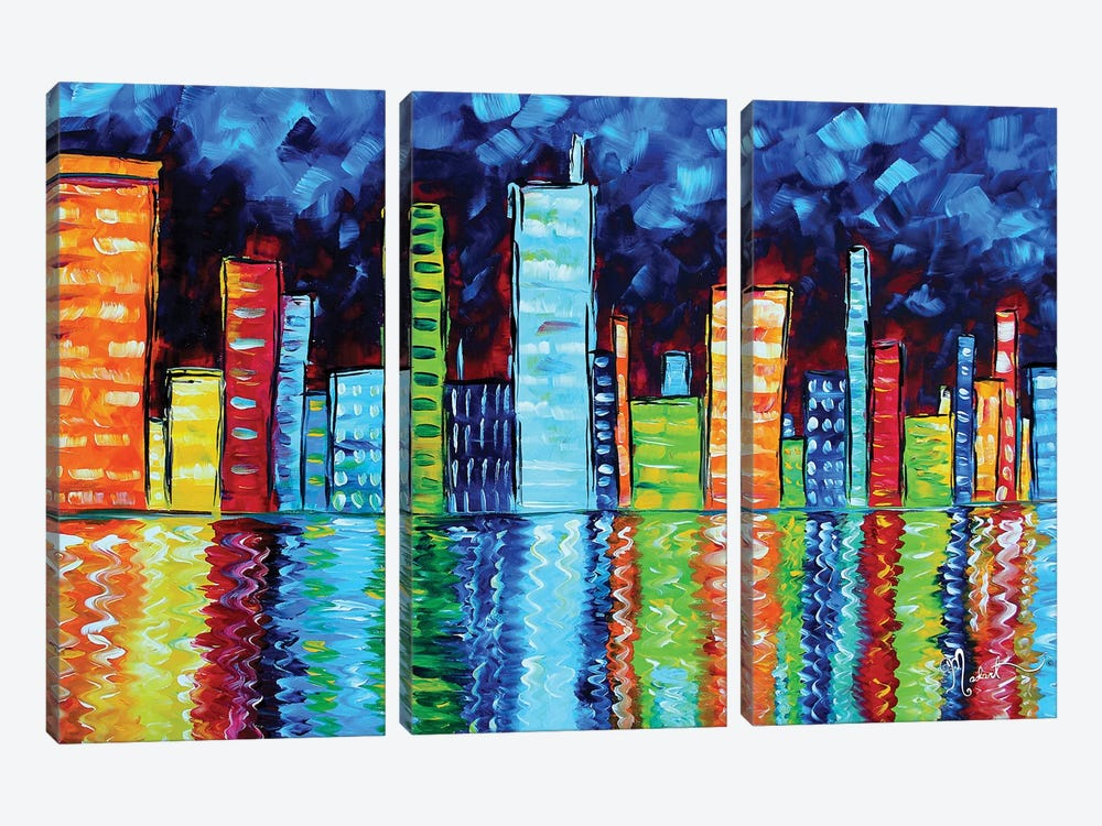 City Nights II by Megan Duncanson 3-piece Canvas Print