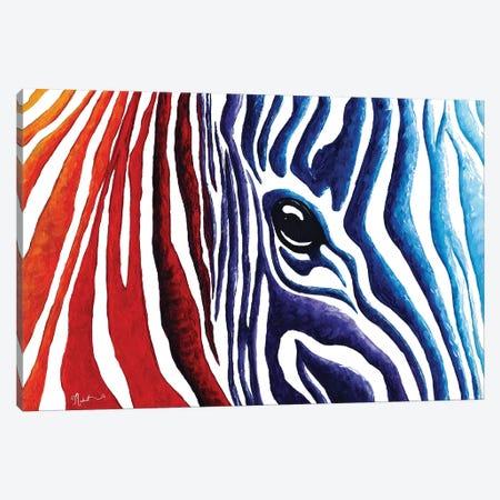 Colorful Stripes I Canvas Print #MDN66} by Megan Duncanson Canvas Wall Art