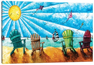 Beach Life II Canvas Art Print
