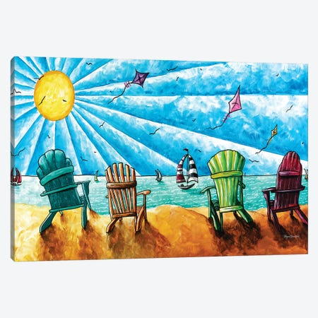 Beach Life II Canvas Print #MDN6} by Megan Duncanson Canvas Print