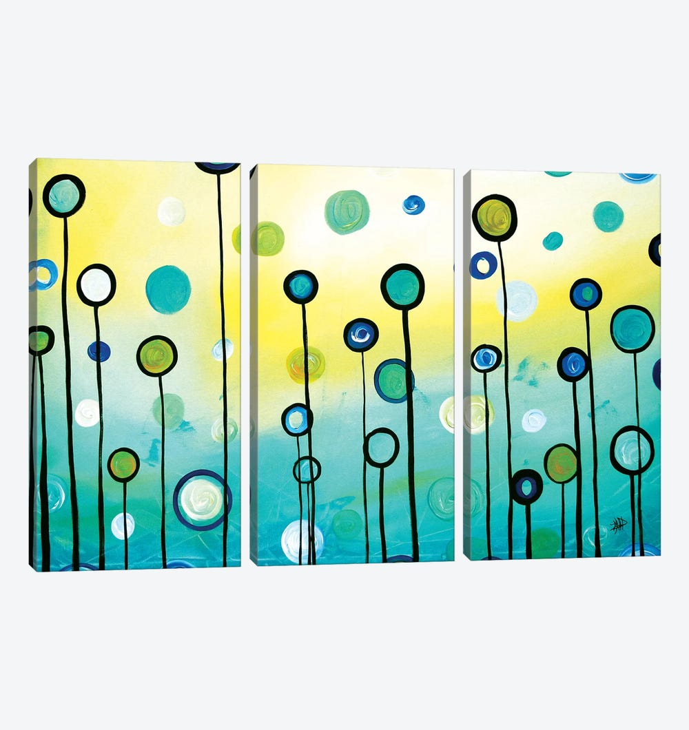 Lollipop Field by Megan Duncanson 3-piece Canvas Artwork