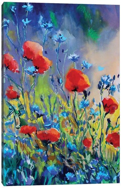 Flores Rojas II Canvas Art Print