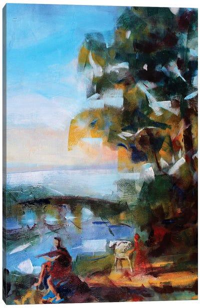 Antique Landscape Canvas Art Print